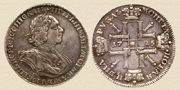 Rouble 1725. Silver.