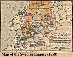 Map of the Swedish Empire (1658)